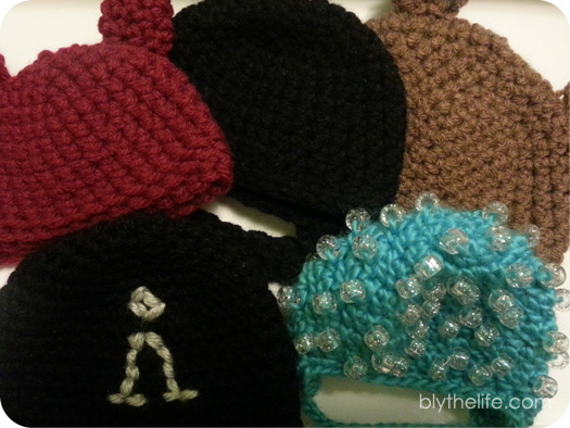 f5336b65c83 Crocheted hats are actually one of the very first things that I ever  created for Blythe! I ve made so any over the years in an assortment of  colours ...